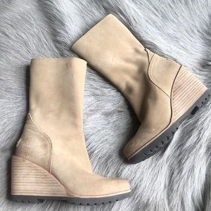 New Sorel wedge After Hours Boots taupe 5